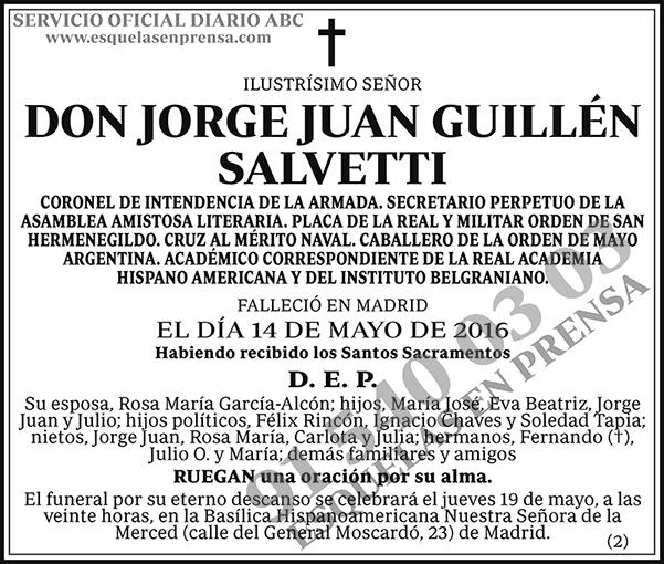 Jorge Juan Guillén Salvetti